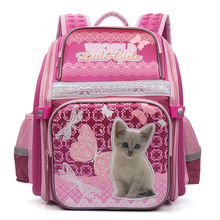 Cartoon cat Prints High Quality Waterproof nylon School Bags For Teenager Girls Orthopedic Backpacks book bag For kids Rucksack