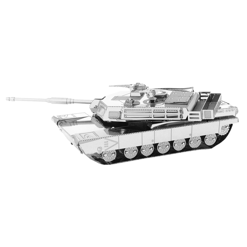 Abrams main battle tank laser cutting 3D puzzle DIY metal tank model jigsaw best gifts for kids educational toys(China (Mainland))