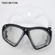 Hot Diving mask for Men Snorkeling high-quality diving goggles profession swimming glasses Women Transparent Tempered glass lens