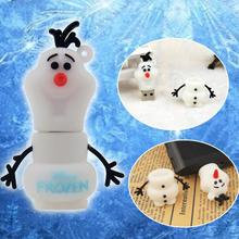 cartoon Frozen Snowman shaped USB Flash Drive pen drive flash memory stick usb drive 4GB 8GB 16GB 32GB 64GB pendrive