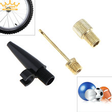 3pcs  Bicycle Tyres Most Inflatable Ball  Pump Adaptor Kit Valve Connector Football Airbed