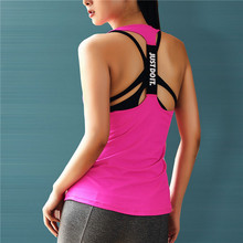 JUST DO IT Professional Yoga Top Vest Solid Color Quick Drying Sport Shirt Women Running Gym Sport Jerseys Fitness Gym Tank Top