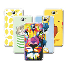 Y5 2 Fruit Art Print Minions Banana Cartoon Design Case For Huawei Y5 2 /Huawei Y5 II Case Cover Huawei Y5 2 5 inch+Free Pen