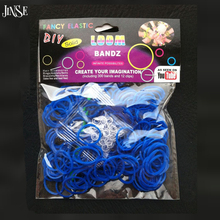 Fashion DIY Rubber Bracelet Loom Colorful Rubber Bands DIY Looming Jelly Bracelets (300 bands +12 S clips + +1 Hook) Solid Color