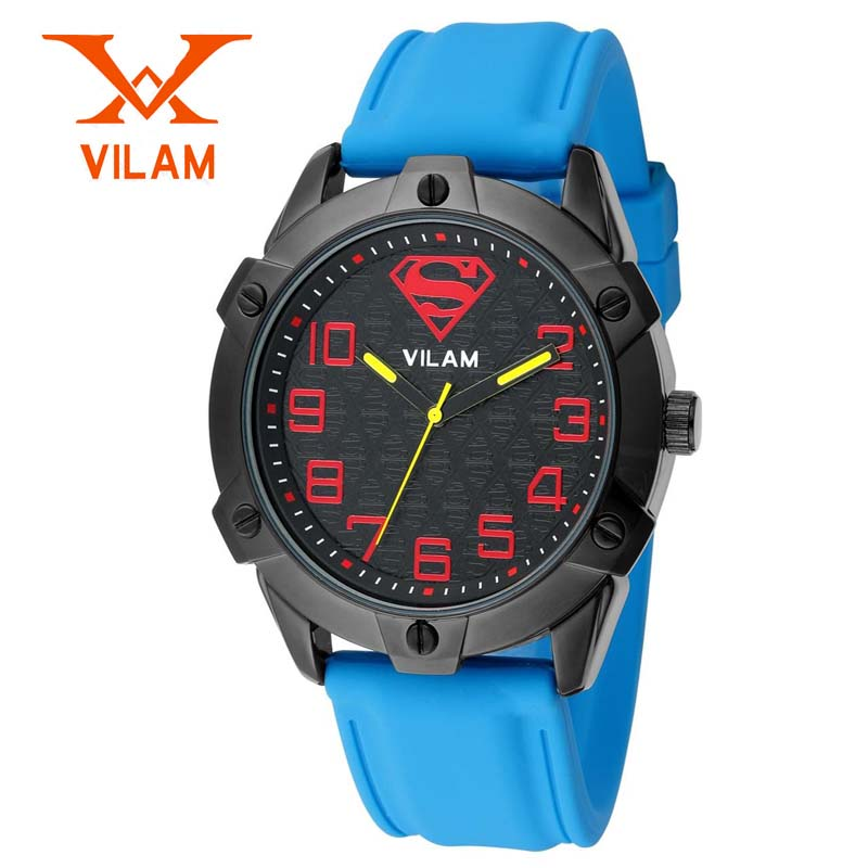 Fashion Brand VILAM Superman Design Japan Movement Waterproof Silicone Band Sports Watch Men Casual Wrist Quartz Watch Men Clock<br><br>Aliexpress