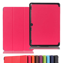 "pure colour three folding Case for Tab2 A10 70 Leather cover case funda for For lenovo tab 2 a10-70 10.1"" tablet pc leather case"
