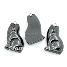 "10Pcs Gunmetal Cat Animal Hematite Pendants Jewelry DIY Findings Charms 3.2cmx2cm(1 2/8""x6/8"")"