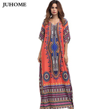 Buy 2017 summer autumn big size Women clothing Floor-Length Maxi Dress O neck Printing Ethnic Robe Vestidos Long india dashiki dress for $16.37 in AliExpress store