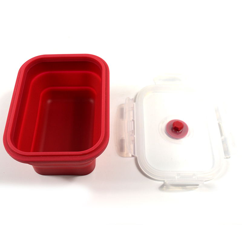 Folding Silicone Lunch Box Food Storage Container Kitchen Microwave Tableware Portable Household Outdoor Food Fruit Organizer 8