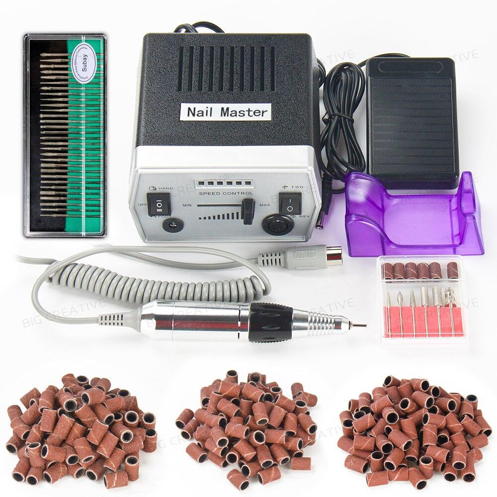 Subay 30000RPM Black nail art drill Nail Equipment Manicure Tools Pedicure Acrylics Grey Electric Nail Art Drill Pen Machine Set<br>