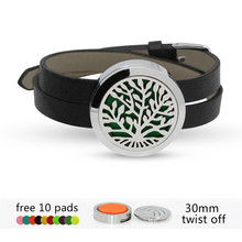 Buy Tree life & ribbon Twist screw Stainless Steel Aroma Locket Bracelet Wristband Diffuser locket Perfume bracelet 10pcs Pads for $4.49 in AliExpress store