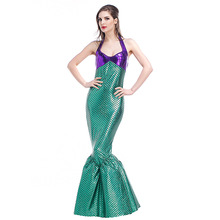 VASHEJIANG New Women Mermaid Costume Adult Romantic Beauty Sea Maid Princess Role Playing Halloween Mermaid  Costume for women