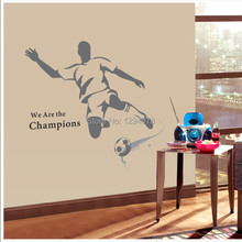 2014 New The World Cup Large Soccer Ball Football Wall Sticker For Boys Bedroom Decor Wall Art Decals Sport Poster 120*110cm(China)