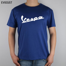vespa Small motorcycles scooters T-shirt Top Lycra Cotton Men T shirt(China)