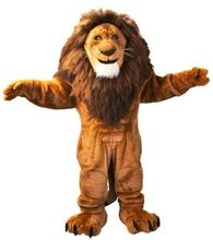 mascot costumes for adults christmas Halloween Outfit Fancy Dress Suit Free Shipping lion king Long hair