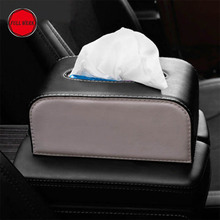 PU Leather Tissue Box Block Type Paper Holder Organizer Case Container for Home Car Tesla Model S Model X Interior Accessories