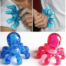 Portable Crystal massage Handheld Octopus Massager For Relieving Neck Abdomen Back Muscle Pain random color