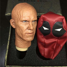 Mnotht 1/6 Scale Deadpool 1/6 Ryan Reynolds Burn Head Sculpt For 12in Action Figures Toys l30(China)