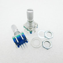 5PCS/LOT Original,Rotary encoder,code switch/EC11/ digital potentiometer with switch 5Pin handle length 20mm Q(China)