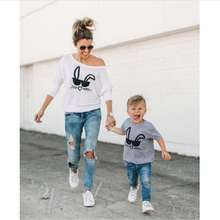 Children Boys Girls Mama Clothing Newborn Baby Girls Family Matching Clothes 2017 New Hot Sale Mom And Son T-shirt Tops Outfits(China)