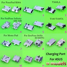 11 different models,11pc/lot Micro USB connector for ASUS fonepad T300LA A80 A86  ZC500TG  Memo Pad 10 ME103K K01E ME103 K004