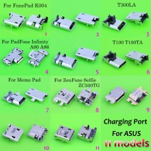 11 different models,11pc/lot Micro USB connector for ASUS fonepad T300LA A80 A86 ZC500TG Memo Pad 10 ME103K K01E ME103 K004(China)