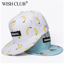 Fashion Fruit Pattern Adult & Kids Snapback Caps Children Baseball Hat Caps For Boys Girls Sun Hip Hop Snapback Caps Sun Hat(China)