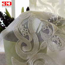 Simba Deco european damask White Sheer Curtains For living room embroidered tulle window bedroom vorhang voile custom made panel(China)