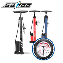 SAHOO Portable Bicycle Floor Pum Bike Tire Inflator MTB Road Bicycle Pump Air Pump With Pressure Gauge 3 Colors
