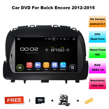 "Quad Core 8"" Android 5.1 car dvd player for Buick Encore 2012-2015 With Car Audio GPS 3G/WIFI Bluetooth Radio USB 16GB ROM(China)"
