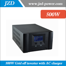UPS 500W 12/24VDC to 220/110VAC,50/60HZ Solar Grid off Inverter with Pure sine Wave low Frequency Converter with LCD Display