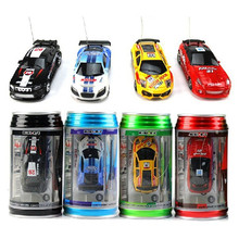 1pc Mini RC Car Christmas Childrens Toy Gift High Speed Coke Can Remote Control Car 1:63 Automobile Race Model(China)