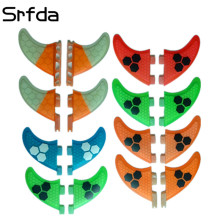 srfda for FCS FCS2 FUTURE 2pcs GL GX K2.1 G3 size surfboards fins fiberglass Surf Fin fcs fins two pieces per set(China)