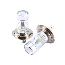 1 Pair 60w 2323 6000k 12SMD White H7 High Power Led Car Fog Running Light Bulbs Car Styling Lights Automobiles Bulb