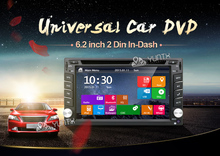 HD Touch Screen Double 2 DIN Car GPS Stereo DVD Player Bluetooth Radio+Camera In Dash Navigation 3D Bluetooth(China)