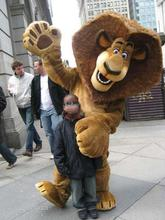 custom made Madagascar Top Selling Alex Lion Mascot Costume Plush Cartoon Character Suit Adult Size Free EMS Shipping