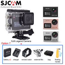 SJCAM SJ6 Legend 4K Original Action Camera Touch Screen Waterproof WiFi Sport DV+Many Accessories+Remote Watch+Extend Microphone