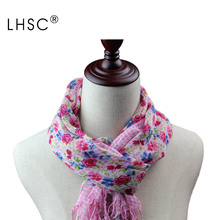 New Fashion Style Wrap Spring And Summer Cotton Scarves Neck Ring Women's Solid Loop Scarf Bufandas Mujer Fashion Ladies Scarfs