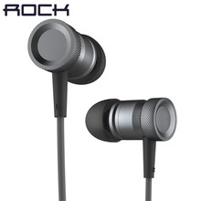 Rock Mula Hybrid In-Ear Stereo Earphones With Mic Earphone Grey Gold For Android iOS For MP3 PC