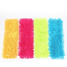 Easy Wash Floor Folding Flat Mop Head Coral Velvet Chenille Refill Replace Microfibre Fabric Replacement Cloth