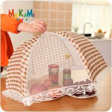 Food Covers Umbrella Style Anti Fly Mosquito Kitchen Cooking Tools Meal Cover Rectangle Hexagon Gauze Table Food Cover Two Style(China)