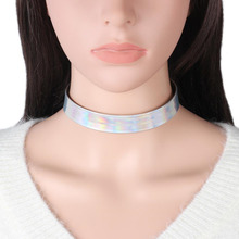 "DoreenBeads Chic Laser Necklace for Women Chokers Necklaces PU Leather for Dress Party Gift 32cm(12 5/8"") long, 1 Piece 2017 New(China)"