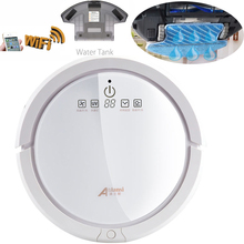 AOLANSI New Design Smartphone WIFI APP Control Robot Vacuum Cleaner with 150ml Water Tank,Mop Function,Dry and Wet Mop(China)