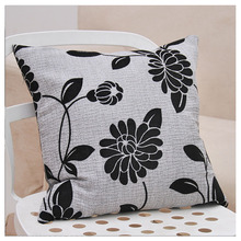 43 * 43 cm Dark Gray Linen  Cushion Cover Contemporary And Contracted Style Sofa Pillowcase(not including padding)