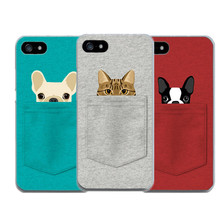 Dog Cat Animal Soft Covers For Iphone 4 4S 5 5S SE 6 6S Plus 7 7 Plus Case Silicon TPU Mobile Phone Bags For Apple iphone4 5S 6S