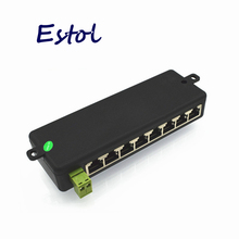 New 100% Original 8 LAN Ports Passive adapter Pin 4 5/7 8 Power Over Ethernet PoE Module Injector DC 9-48V IP Camera PoE switch