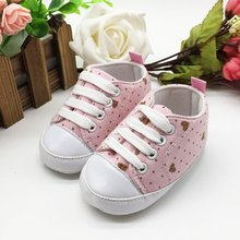 Infant Toddler Newborn Shoes Baby Girl Boy Sports Sneakers Soft Bottom Anti-slip T-tied First Walkers Prewalker