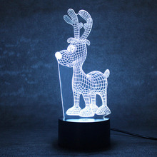 Creative 3D LED Night Light USB Table Lamp Toy Night Light Christmas Gifts Animal Deer Shape Lamp Bedside Sleep Light Fixture(China)