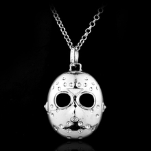 Horror Movie The 13th Black Friday Hockey Killer Jason Mask Pendent Alloy Necklace Fashion Jewelry Accessories Gift For Fans(China)