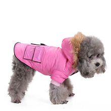Winter Puppy Clothes Pet Dog Coat Jacket Waterproof Windproof Warm Dog Hooded Coat Pet Apparel for Small Medium Dogs Cats XS-XL(China)